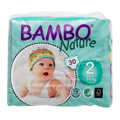 Bambo Nature Eco Disposable Nappies Size 2: 3-6 kg 33's (mini)
