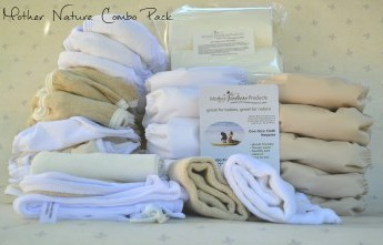 Mother Nature Products' Full Time Combo Pack (All-In-One & Nature Nappy)