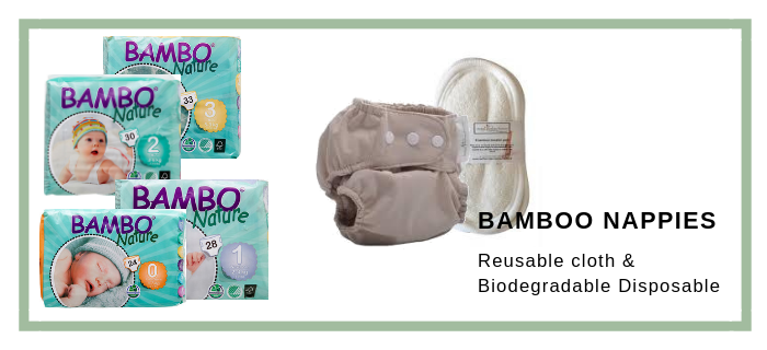 Reusable and disposable bamboo cloth nappies